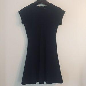 Banana Republic black textured dress. Size 2